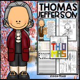 Thomas Jefferson Activities, Close Reading, Crafts, and More