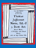 Thomas Jefferson Music, ELA: 3 Item Set