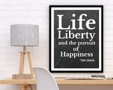 Thomas Jefferson Poster, Life Liberty and the Pursuit of Happiness