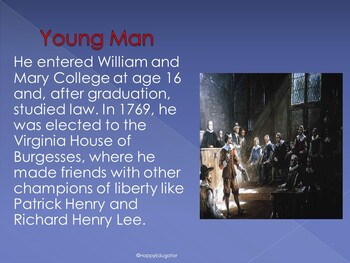 Thomas Jefferson Biography PowerPoint - Presidents Day Informational Text