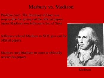 Thomas Jefferson Presidency and Marbury vs. Madison
