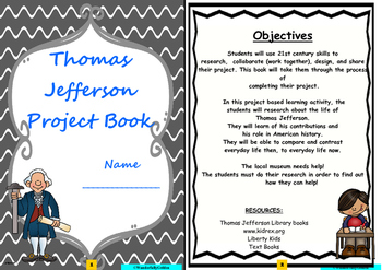 Thomas Jefferson: Project Based Learning Activity