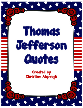 Thomas Jefferson Quotes Poster Set/Founding Fathers