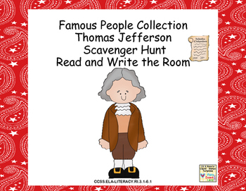 Thomas Jefferson- Read and Write The Room- Grades 3-6