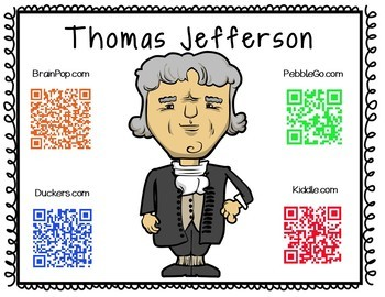 Thomas Jefferson-Historical Figure Research Booklet