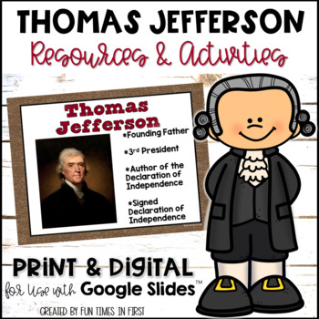 Thomas Jefferson {Resources to Support Research}