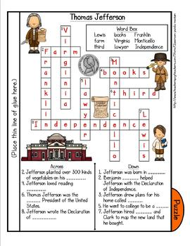 Thomas Jefferson Tab Booklet