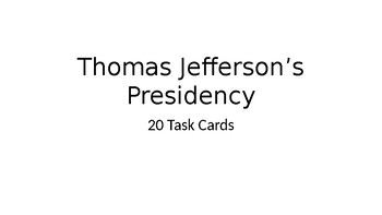 Thomas Jefferson Task Cards