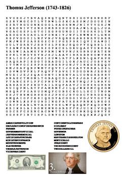 Thomas Jefferson Word Search