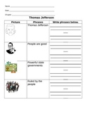 Thomas Jefferson and Alexander Hamilton for Life Skills Students