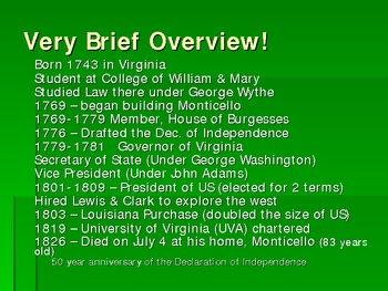 Thomas Jefferson and Monticello