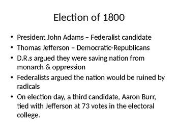Thomas Jefferson's Presidency PowerPoint
