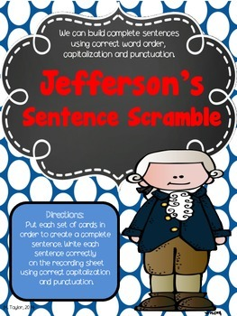 Thomas Jefferson's Declaration of Independence Literacy Centers