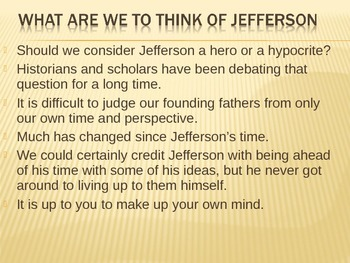 Thomas Jefferson's Paradox