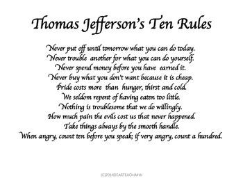 Thomas Jefferson's Ten Rules