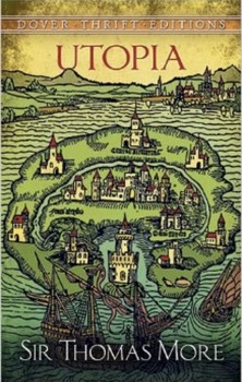 """Thomas More's """"Utopia"""" excerpt with scavenger hunt, vocabulary and short answer"""