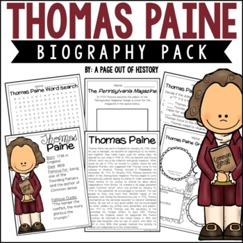 Thomas Paine Biography Pack (Revolutionary Americans)
