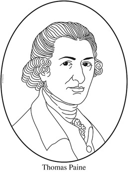 Thomas Paine Clip Art, Coloring Page, or Mini-Poster