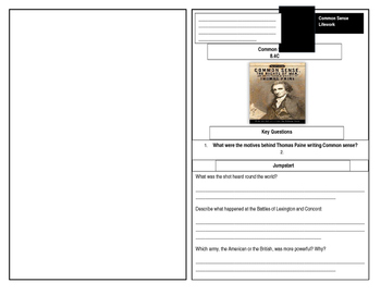 Thomas Paine Common Sense Worksheet