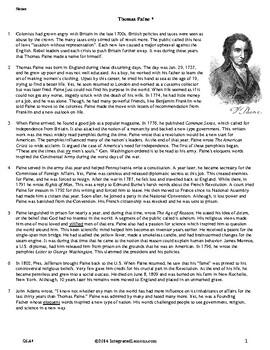 Thomas Paine - Grade 6