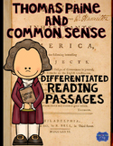 Thomas Paine and Common Sense Differentiated Reading Passa