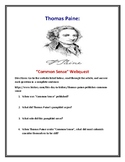 """Thomas Paine and """"Common Sense"""" Webquest (With Answer Key!)"""