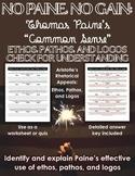 Thomas Paine's Common Sense: Ethos, Pathos, and Logos Check for Understanding