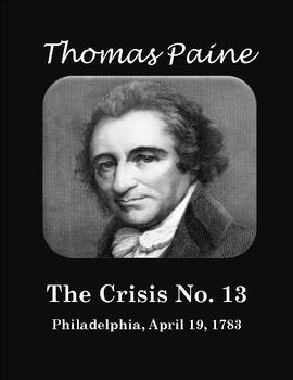 Thomas Paine's Crisis No. 13: April 19, 1783