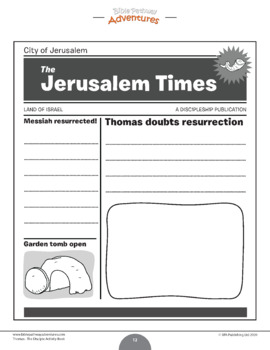 Thomas: The Disciple Activity Book