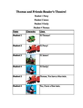 Thomas the Tank Engine Reader's Theater Play Kindergarten/