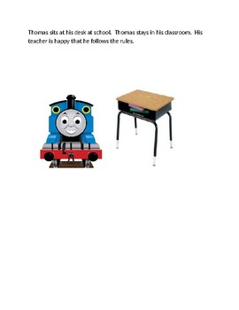 Thomas the Tank engine story about following school rules