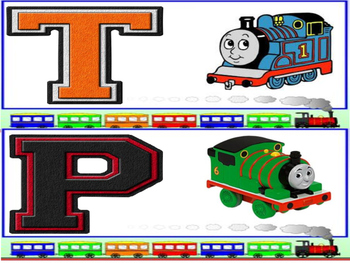 Thomas the Train Letter Matching Cards