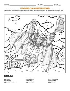Thor Coloring Sheet