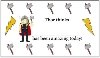 Thor Daily Incentive Cards