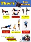 Thor Superhero Fitness - Self-guided activity for PE - Edi