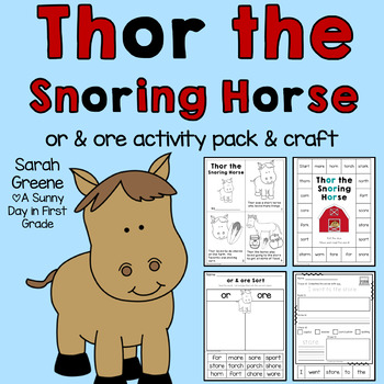 Thor the Snoring Horse {or & ore activity pack}