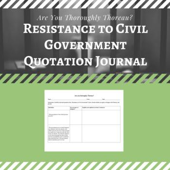 Thoreau Quotation Journal