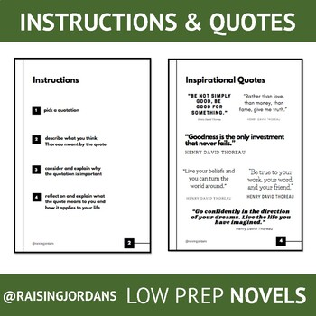 Thoreau Quotations and Notations (My Side of the Mountain)