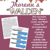 "Thoreau's Walden -- Excerpts w/ ""Texting Thoreau"" activity -- Transcendentalism"