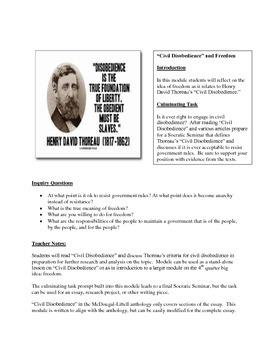 "Thoreau's ""Civil Disobedience"" Unit"