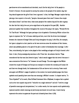 Wilder's Our Town Writing Assessment