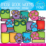 Those Bookworms Clipart Set