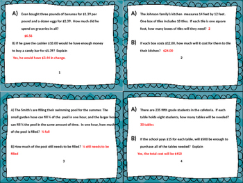 Those Crazy Two Part Math Word Problems Task Cards