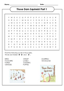Those Darn Squirrels! Word Search Part 1