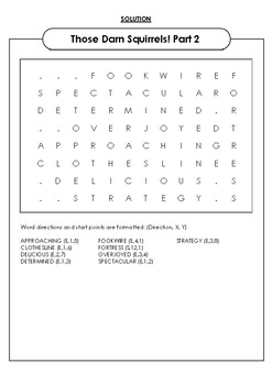 Those Darn Squirrels! Word Search Part 2