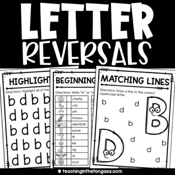 Letter Reversal Identification: B's and D's Free