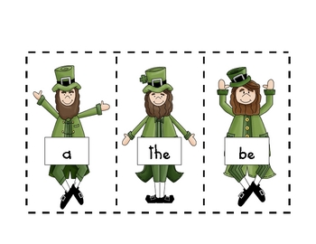 Those Pesky Leprechauns!  A read the room sight word activity
