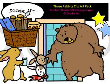 Those Rabbits Clip Art Pack