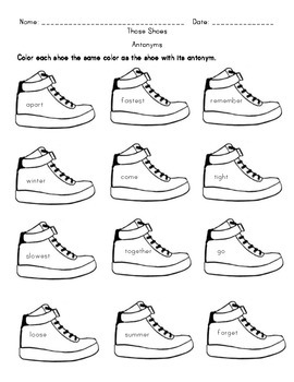 Those Shoes - Book Activities
