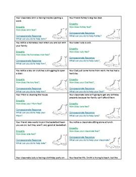 Empathy and Compassion Shoe Scenarios (Classroom Guidance)